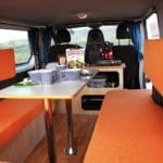 Camper Iceland - Renault Traffic - Sleeping and cooking area