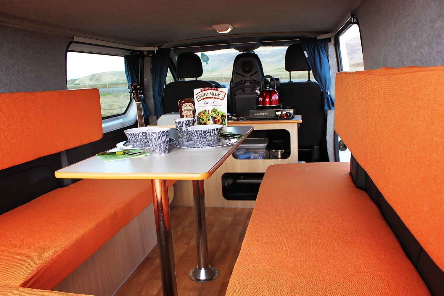 Camper-Iceland-Renault-Traffic-Sleeping-and-cooking-area