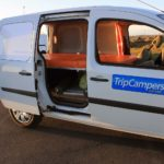 Renault Kangoo Camper - Bed fully stretched
