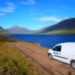 Camper Renault Kangoo - Traveling through fiors in Iceland